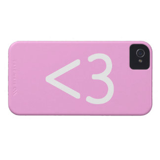 Less than three heart Emoticon Smiley iPhone 4/4S Case-Mate iPhone 4 Case