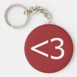 Less Than Three Heart Key Chains