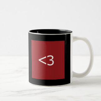 Less Than Three Heart Two-Tone Coffee Mug