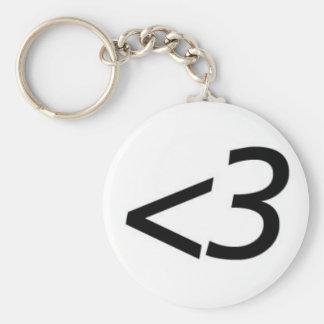 Less Than Three Basic Round Button Keychain