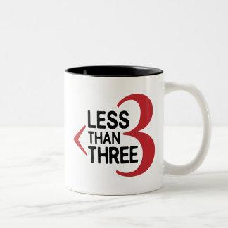 Less Than Three Two-Tone Coffee Mug
