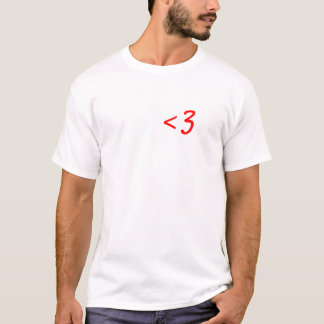 Less Than Three T-Shirt
