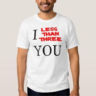 Less Than Three Tshirts