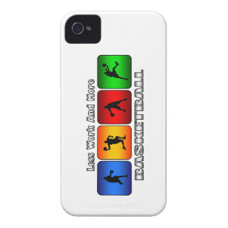 Less Work And More Basketball iPhone 4 Cover