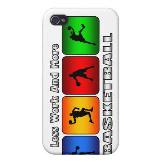 Less Work And More Basketball iPhone 4 Covers
