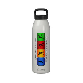 Less Work And More Basketball Drinking Bottle