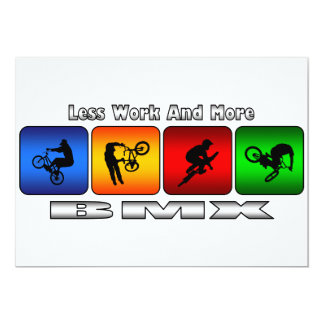 Less Work And More BMX Card