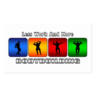 Less Work And More Bodybuilding Business Cards