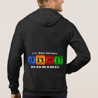 Less Work And More Boxing Hooded Sweatshirt