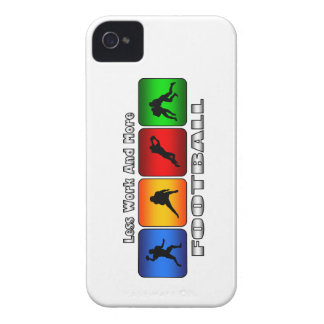 Less Work And More Football iPhone 4 Cover