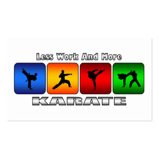 Less Work And More Karate Double-Sided Standard Business Cards (Pack Of 100)