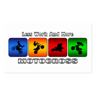Less Work And More Motocross Business Card
