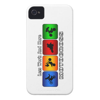 Less Work And More Motocross Case-Mate iPhone 4 Case