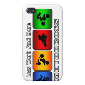 Less Work And More Motocross iPhone 4 Covers