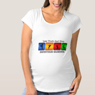 Less Work And More Mountain Climbing Maternity T-Shirt