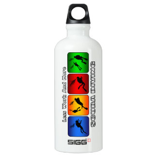 Less Work And More Scuba Diving Aluminum Water Bottle