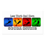 Less Work And More Scuba Diving Double-Sided Standard Business Cards (Pack Of 100)