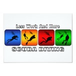 Less Work And More Scuba Diving 5x7 Paper Invitation Card
