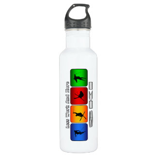 Less Work And More Ski Stainless Steel Water Bottle