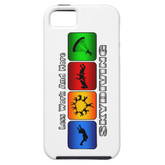 Less Work And More Skydiving iPhone 5 Cases
