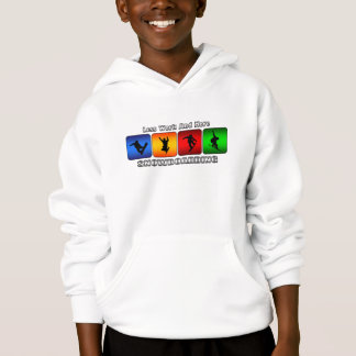 Less Work And More Snowboarding Hoodie
