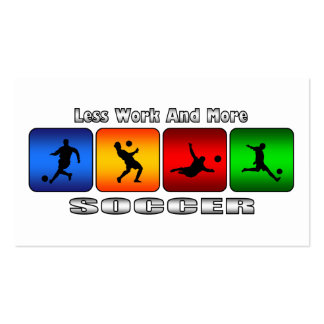 Less Work And More Soccer Double-Sided Standard Business Cards (Pack Of 100)