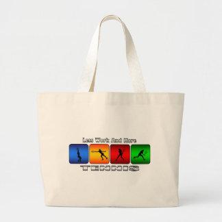 Less Work And More Tennis (Female) Jumbo Tote Bag