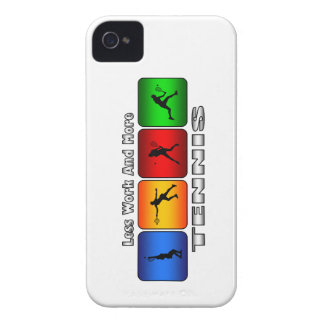 Less Work And More Tennis (Female) iPhone 4 Case
