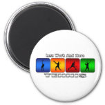Less Work And More Tennis (Male) 2 Inch Round Magnet
