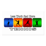 Less Work And More Tennis (Male) Double-Sided Standard Business Cards (Pack Of 100)