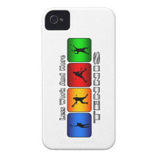 Less Work And More Tennis (Male) Case-Mate iPhone 4 Case