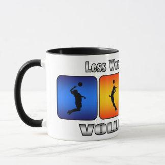 Less Work And More Volleyball Mug