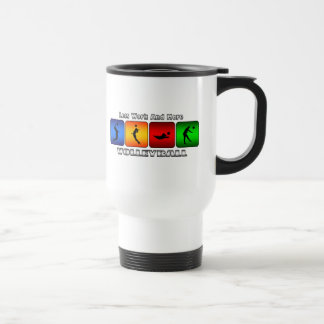 Less Work And More Volleyball Travel Mug