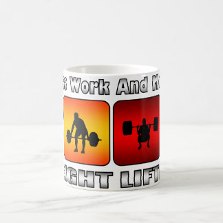 Less Work And More Weight Lifting Coffee Mug