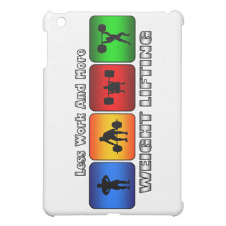 Less Work And More Weight Lifting iPad Mini Covers
