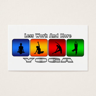 Less Work And More Yoga Business Card