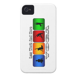 Less Work And More Yoga iPhone 4 Case