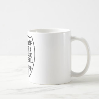 Less work more football coffee mug