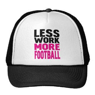 less work more football mesh hats