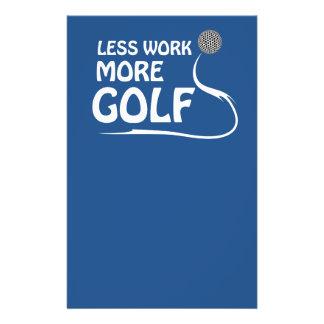 Less work more golf flyer
