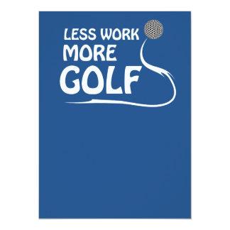 Less work more golf custom invitation card