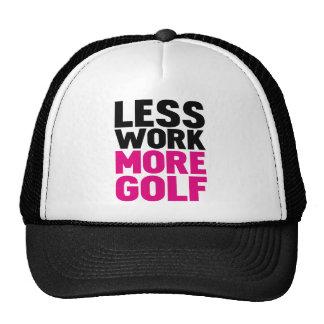 less work more golf trucker hat