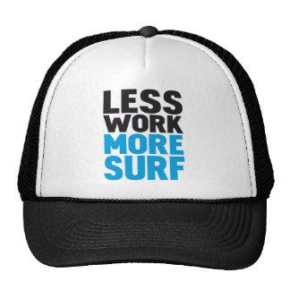 Less work more surf trucker hat