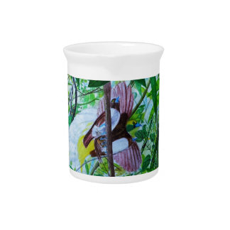 Lesser Birds of Paradise Beverage Pitcher