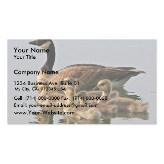 Lesser Canada Goose Brood Business Card Templates