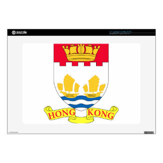 "-Lesser_Coat_of_arms_of_Hong_Kong_(1959-1997 Decals For 15"" Laptops"