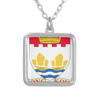 -Lesser_Coat_of_arms_of_Hong_Kong_(1959-1997 Silver Plated Necklace