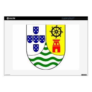 "Lesser_coat_of_arms_of_Portuguese_India Decal For 15"" Laptop"