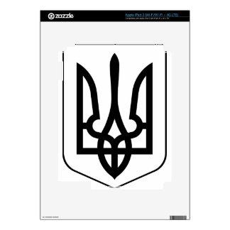 Lesser_Coat_of_Arms_of_Ukraine_ (bw) iPad 3 Pegatinas Skins