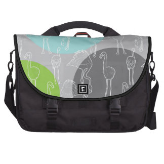 Lesser Flamingo pattern Laptop Messenger Bag